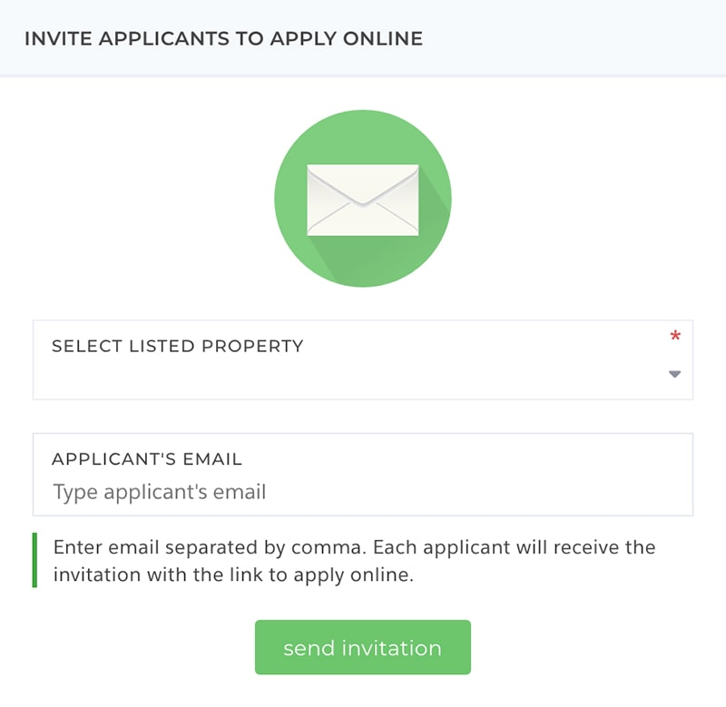 Invite tenants to apply